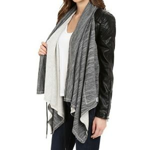 Blank NYC Dating and Waiting Drape Front Jacket